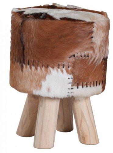 Casa-Padrino piel de cabra asiento de heces 30 x 45 cm