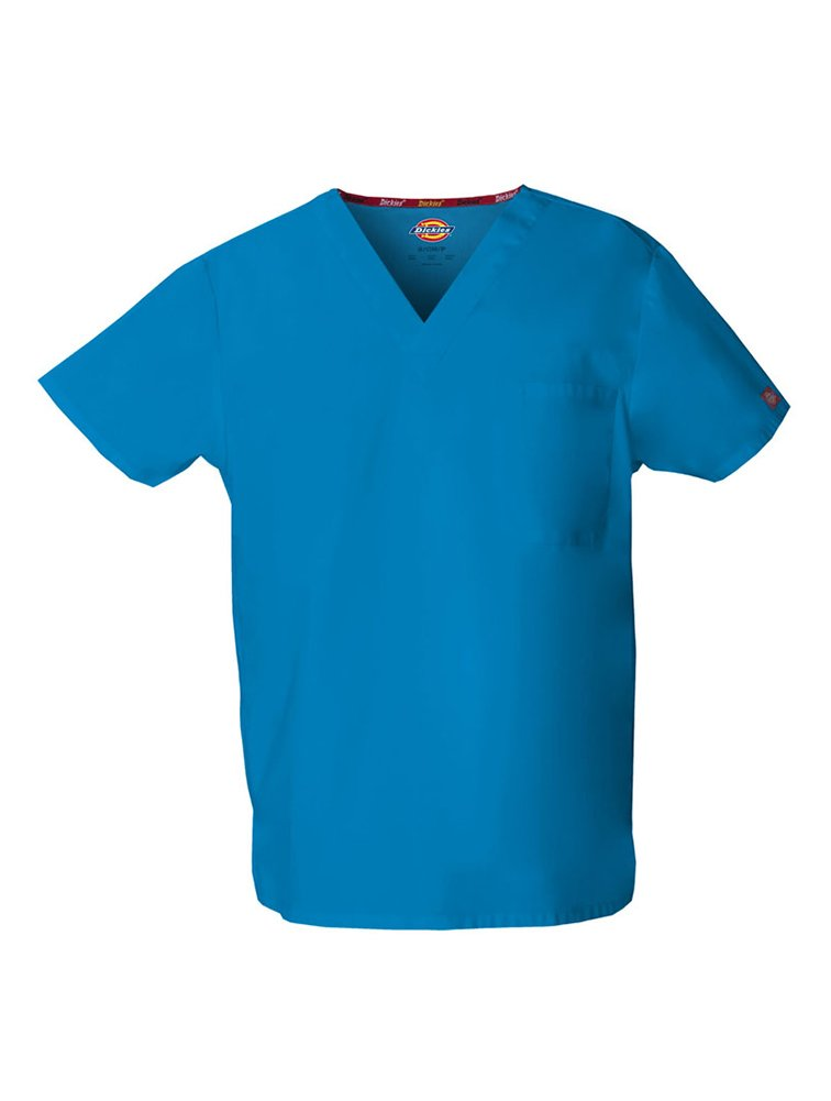 Dickies Unisex Bar-Tacked V-Neck Top_Riviera Blue_X-Large,83706