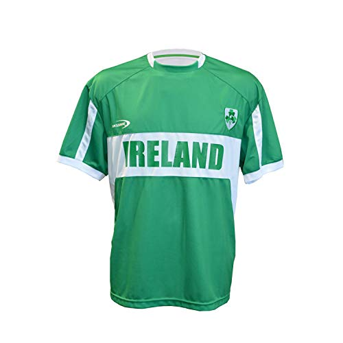 - Carrolls Irish Gifts Men's Replica Style Ireland Lansdowne Rugby Jersey, Green Colour