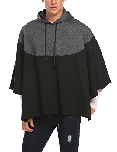 Hotouch Mens Hipster Hip Hop Fashion Pullover Hoodie Sweatshirts Jacket (Charcoal Gray XXL) by Hotouch (Image #1)