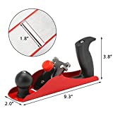 Hand Plane for Woodworking, EnPoint Wood Hand Planer Adjustable Bench Plane 9-1/3 Inch Flat Base Cast Smooth Surface Table Chair Leg for Hardwood Carpenter Woodcarver with 2 Inch E