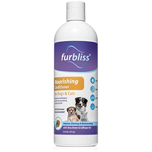 VETNIQUE LABS Furbliss Nourishing Dog and Cat Conditioner - Intense Shine & Moisturizing Detangler with Shea Butter & Safflower Oil (16oz)