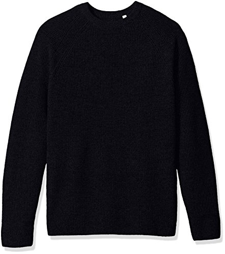 Ben Sherman Men's Crew Neck Sweater, Blue/Black Medium, X-Large