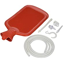 MABIS Enema, Douche, Medical Enema with Hot Water Bottle, Reusable, Red