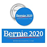 Giant Meteor 2016 Bernie Sanders 2020 Bumper Sticker & Button Bundle