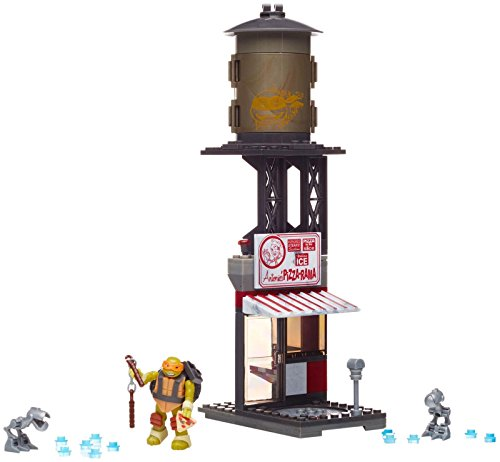 Mega Bloks Teenage Mutant Ninja Turtles Mikey Pizzeria Showdown Building Playset from Mega Bloks