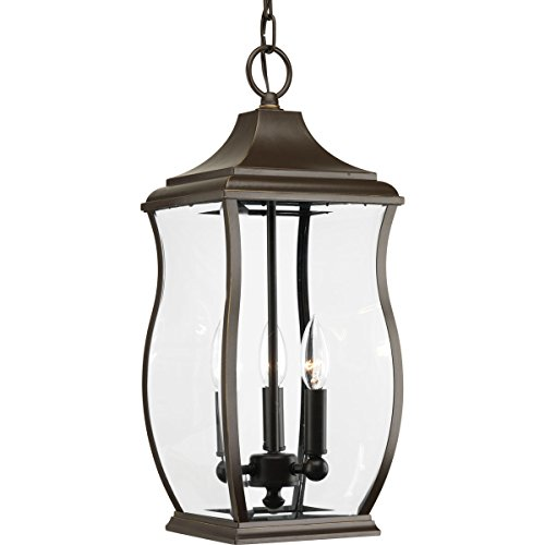Progress Lighting P5504-108 Traditional/Formal 3-60W Cand Hanging Lantern, Oil Rubbed Bronze - Progress Lighting Bronze Outdoor Lantern