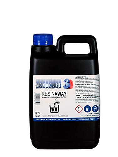 Monocure 3D ResinAway - Cleaner for Resin 3D Printer Post Processing - 2L by Monocure 3D