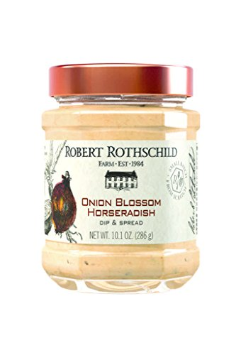 Robert Rothschild Farm Onion Blossom Horseradish (10.1 z) - Dip & Spread - Pretzel and Vegetable Dip - Roast Beef, Pork, Sausage Sauce - Sandwich Spread (Best Sauce For Roast Pork)