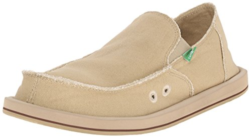 Sanuk Men's Vagabond Slip On, Khaki, 11 M US
