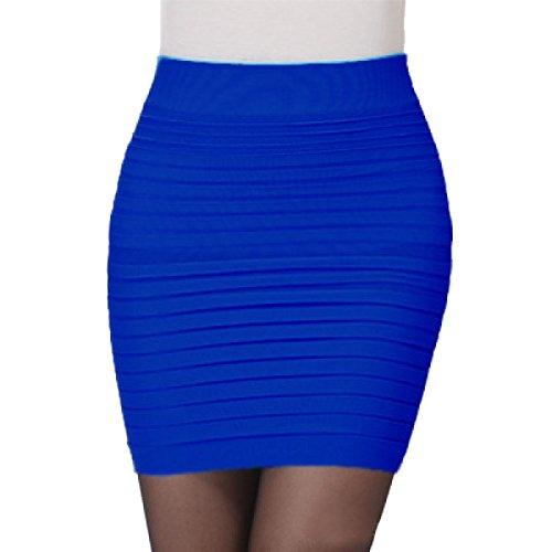 La Sra Verano Faldas Color Sólido De La Cadera Del Paquete Multicolor Blue