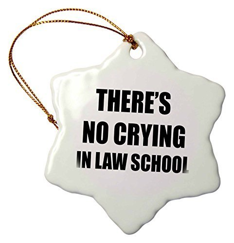 Funny Christmas Snowflake Ornaments Theres No Crying In Law School Holiday Xmas Tree Hanging Ornaments Decoration Gifts