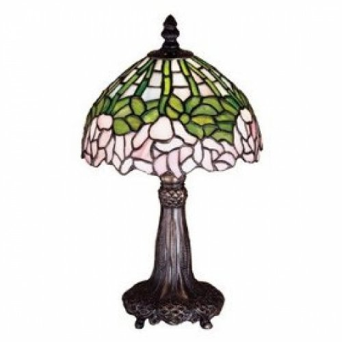 Bronze Cabbage Rose - 13 Inch H Cabbage Rose Mini Lamp Table Lamps
