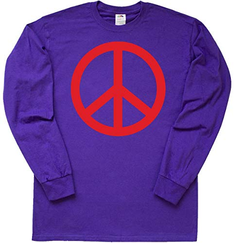 Peace X-large Sign (inktastic - Fun Red Peace Sign Long Sleeve T-Shirt X-Large Purple 49a8)