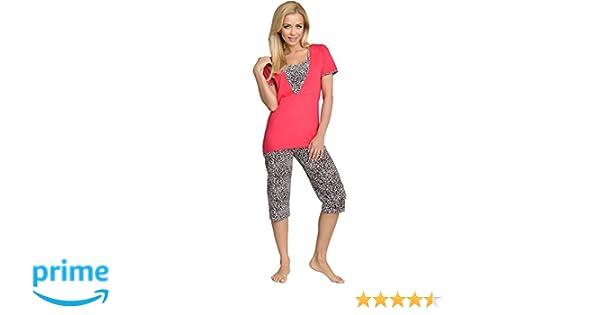 Be Mammy Premamá Pijama Dos Piezas Lactancia Ropa de Cama Maternidad Mujer 5RL382 (Frambuesa, S): Amazon.es: Ropa y accesorios