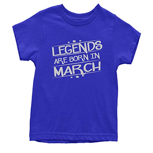 Legends Are Born Youth in March T-Shirt Medium Royal Blue