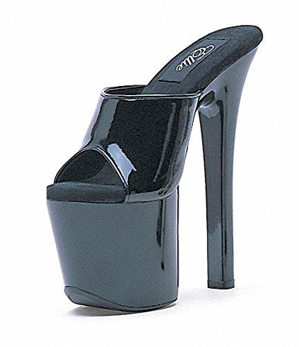Ellie 711-VANITY Womens Sexy Comfortable 7 Heel Mule Black eqYii49cq