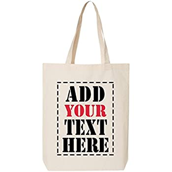 amazon com design your own canvas tote bag add your picture photo
