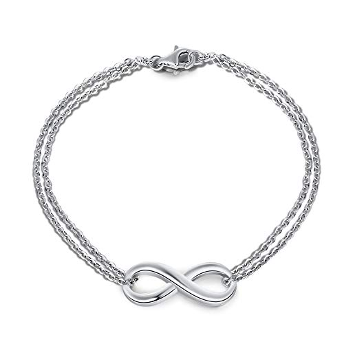 Infinity Love Bracelets for Women Girls Endless Symbol Promise Bracelets Jewelry Birthday Gifts for Girlfriends