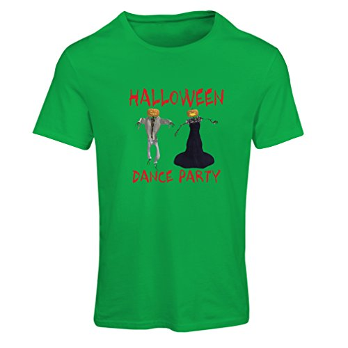 T Shirts for Women Cool Halloween Party Events Costume Ideas, (Medium Green Multi Color) -