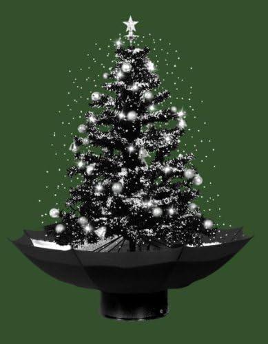 Albero Di Natale 75 Cm.Albero Di Natale Con Neve Nero 75 Cm Amazon It Casa E Cucina