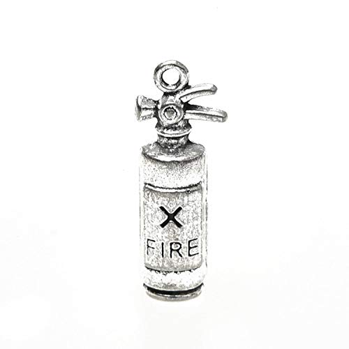 Fire Extinguisher Charm - Monrocco 50pcs Antique Bronze Alloy Fire Extinguisher Charms Pendant findings for for Necklace Bracelets DIY Jewelry Making
