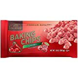 Log House Cherry Flavored Baking Morsels Chips 10oz Bag (Pack of 12)