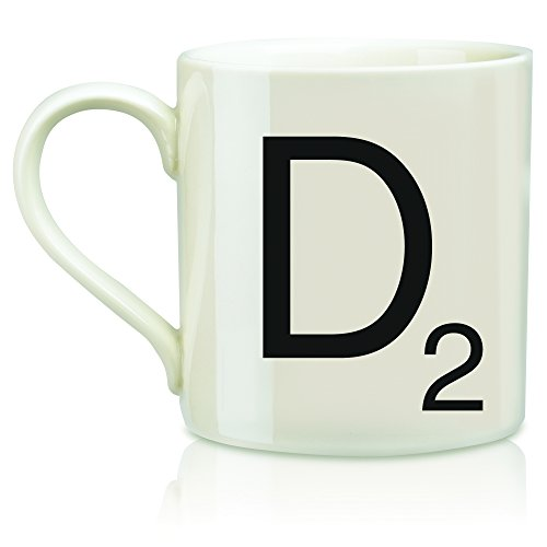 "SCRABBLE Vintage Ceramic Letter""D"" Tile Coffee Mug"