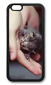 MOKSHOP Adorable cute little kitten Soft Case Protective Shell Cell Phone Cover For Apple Iphone 6 Plus (5.5 Inch) - TPU Black