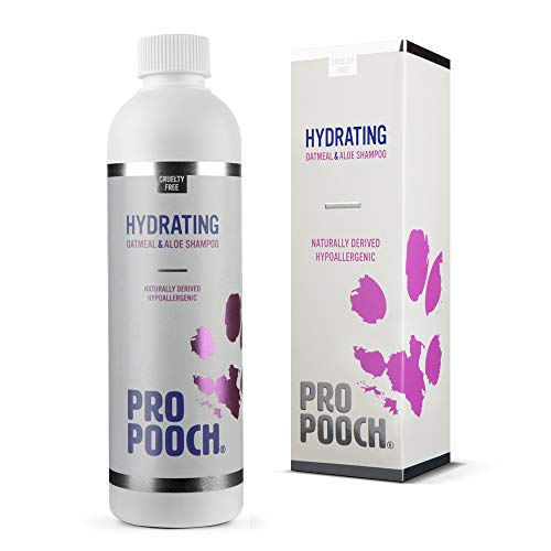 Pro Pooch Oatmeal & Aloe Dog Shampoo (250 ml) | Natural, Hypoallergenic & Fragrance Free | Contains Colloidal Oatmeal, Aloe Vera & Pro Vitamin B5 | for Itchy, Sensitive Dogs with Dry Skin (250 ml)