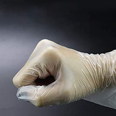HonpraD Plastic Clear Disposable Gloves Latex Free Powder-Free Garden Restaurant Home Food Baking 50PCS/Box: Clothing