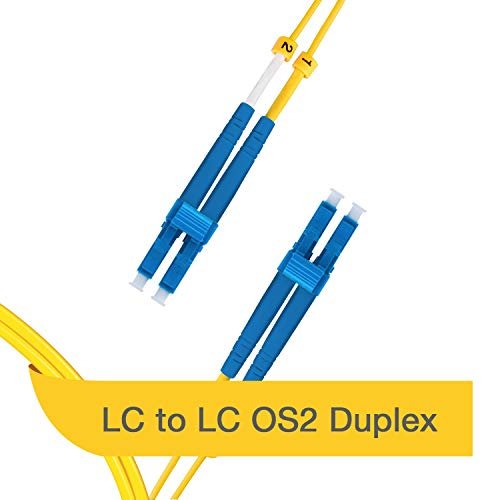 (LC to LC OS2   Fiber Optic Patch Cable   Duplex Corning Bend Insensitive Fiber   9/125 Singlemode   0.5m (1.6ft) LSZH)