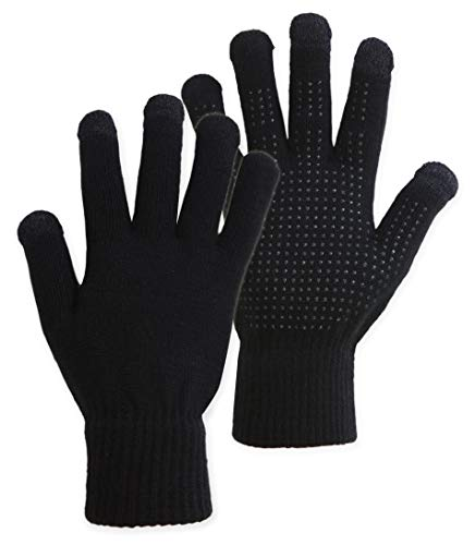 IGN1TE Touchscreen Magic Gloves - Lightweight Thermal Knit Winter Gloves Designed for Texting, Driving, Hiking, Running, Cycling and Casual Wear - 3-Finger Touch Screen Technology - Fits Men & Women (Best Winter Gloves Review)