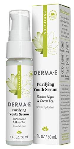 DERMA E Purifying Youth Serum with Marine Algae & Green Tea, 1 Fl Oz