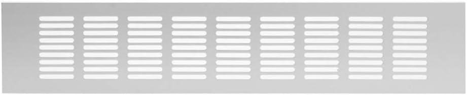 80x400mm Aluminium L/üftungsgitter Silber Stegblech L/üftung Alu-Gitter Gitter M/öbelgitter M/öbell/üftung
