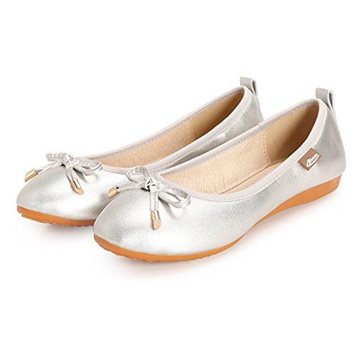 Eagsouni Plata Ballet Ballet Ballet mujer Eagsouni Plata Eagsouni mujer wq8C44