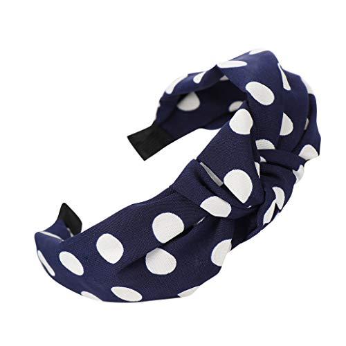 VOWUA Women's Hairband Charming Bow Knot Soft Comfortable Hairband Hair Head Hoop Simple Sweet Girls Hair Headband 1PC