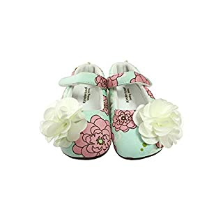 Kinderspel Baby Walker Shoes. Non-Slip Walking Shoes. Baby's First Shoes. Boutique Quality Baby Dress Shoes for Toddlers and Babies. (Flora - Toddler 6)