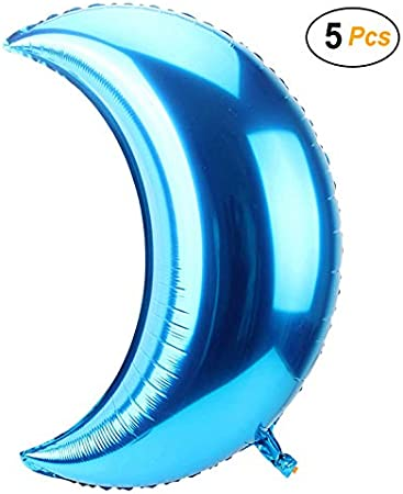 Photo Foil Mylar For Party Decoration Photoshoot Props Large Moon Balloons Pk