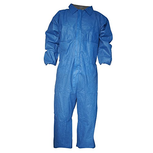 Raygard Flame Resistant Retardant Coveralls FR Disposable Chemical Splash Elastic Cuffs Front Zipper Closure for Fame Heat Work Spray Paint -