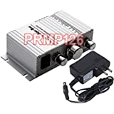 Mini Stereo Amplifier With 40W RMS Output + Volume/Tremble/Bass Controller PRMP126