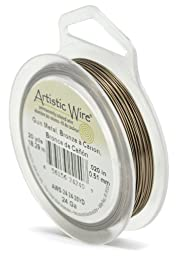 Artistic Wire 24-Gauge Antique Brass, 20-Yards