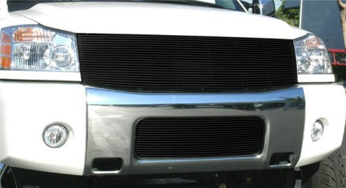 T-Rex Grilles 20780B Horizontal Aluminum Black Finish Replacement Billet Grille for Nissan Titan Armada