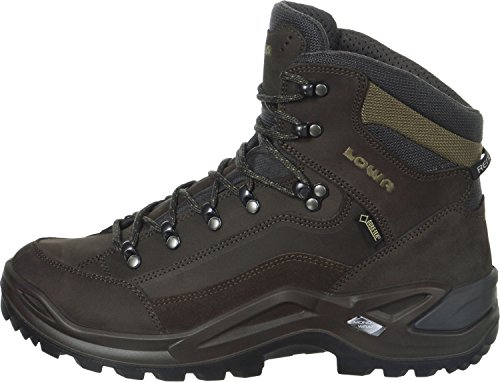 Boots Dark Lowa Mid Renegade Men's black Brown High GTX Rise Hiking fq670wf