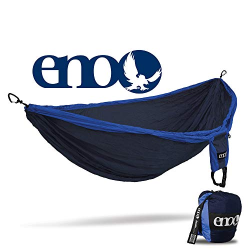 ENO - Eagles Nest Outfitters Double Deluxe Hammock, Portable Hammock for Two, Navy/Royal ()