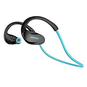 Auriculares Bluetooth Deportivos, Mpow Cheetah aptX Auriculares Bluetooth 4.1 Deportivos Inalámbricos con Manos Libres para correr iPhone, iPad, LG, Samsung y Otros Teléfonos Móviles Android, Azul