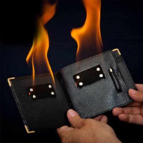 Flame Catalog Number (Magic Trick Flame Fire Wallet Magician Stage Street Inconceivable Prop)