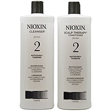 Nioxin System 2 Cleanser and Scalp Therapy Conditioner, 33.8 Ounce