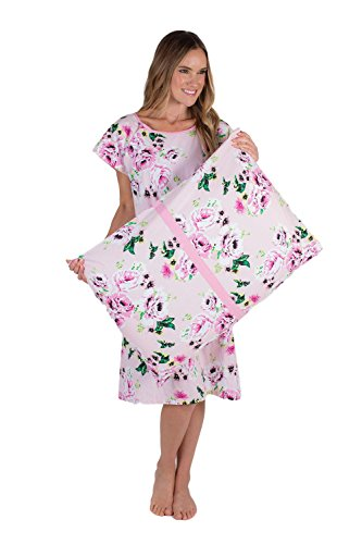 Labor and Delivery Hospital Gown and Matching Pillowcase