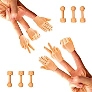 Daily Portable Tiny Hands (Rock, Paper, Scissors, + Holding Sticks) - 6 Pack + 6X Bonus Holding Sticks- Fist B